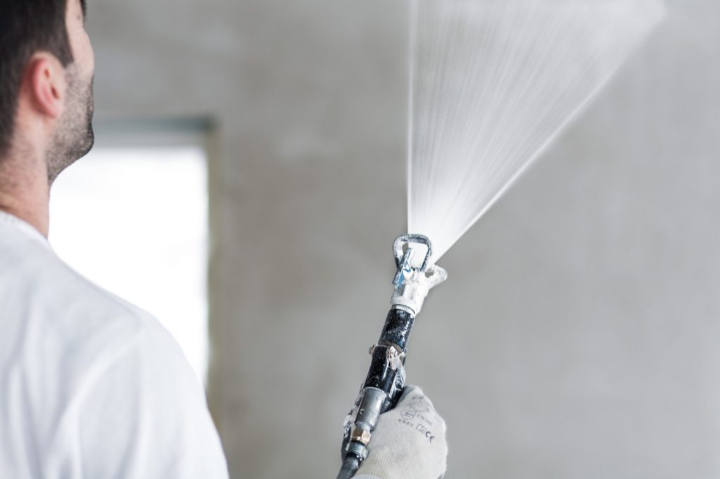 Gipser der MerzGips AG führen im Würbel Belp Gipserarbeiten aus