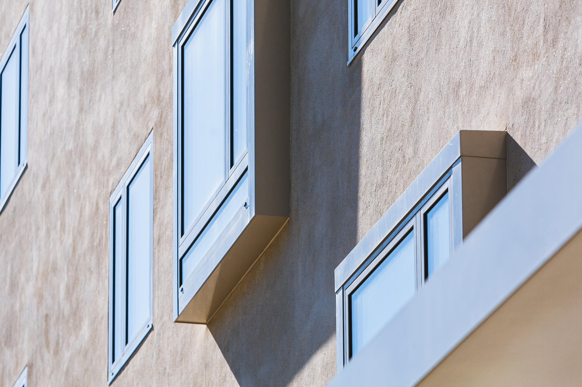 Die MerzGips AG hat beim Aare Wohntraum an der Worblaufenstrasse in Ittigen Fassadenbau ausgeführt